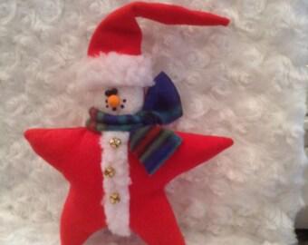 Santa,star santa,Christmas ornament,holiday decor,Christmas decor,winter decor,country decor,primitve ornament,rustic ornament
