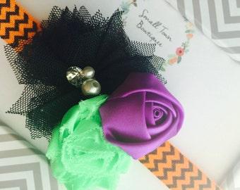 Halloween Baby Headband, Infant Seasonal Headband