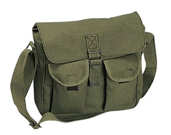 OD Green or Khaki Ammo Shoulder Bag