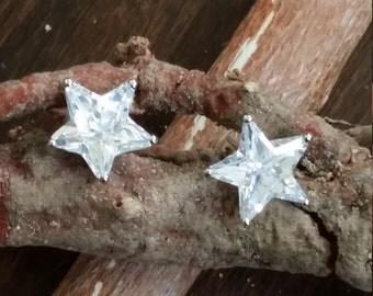 Black and White  Star Earrings