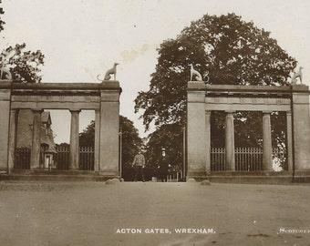 "Vintage Real Photo Post Card ""Acton Gates"", Original Black and White RPPC Postcard, Old Photograph, Antique Photo, Paper Ephemera O"