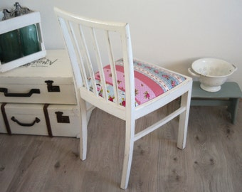 old chair, upholstered Chair, shabby chic, white, vintage