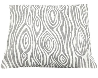 Faux Bois Gray Decorative Throw Pillow