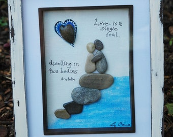 Love is 2... pebble art