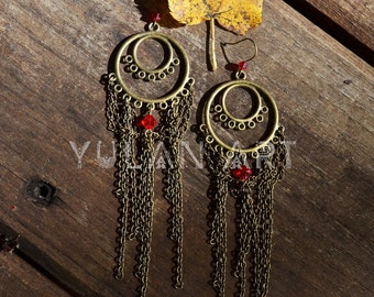 Eastern colored earrings