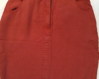 Vintage Orange Brick Short Skirt from VERSE1990s Size S