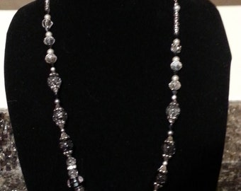 Lovely Black & Grey Necklace