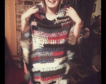 Crazy crochet poncho