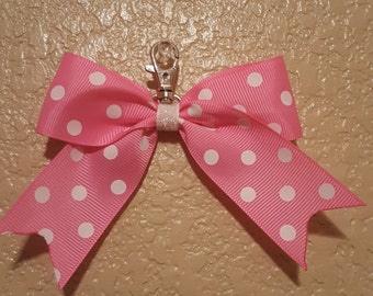Pink with White Polka Dots Back-Pack Bow