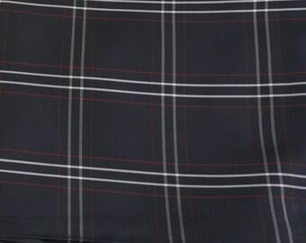 1950s Black White And Red Check Taffeta 3.75m