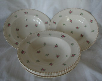 Vintage Rose Design Johnson Bros Set of 6 Bowls