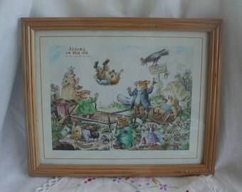 Vintage Spring in the Air 1984 Norman Meredith Framed Print