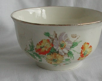 Alfred Meakin Sugar Bowl Orange Flowers Design