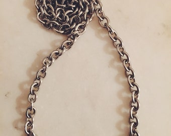 Vintage Silver Tone Charm Necklace ~ Vintage Necklace