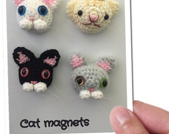 Magnets - Fridge Magnet - Animal crochet - Cat Crochet magnet