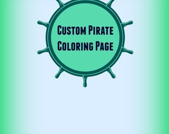 custom coloring pagepirate coloring pagecustom room signboys room sign