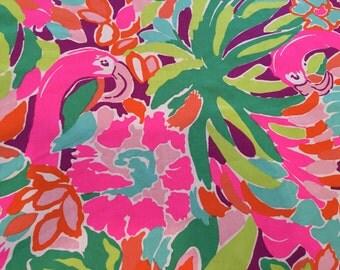 LULU Multi Fabric 18x18 or 18x9 Lilly  Flamingos Garnet Hill