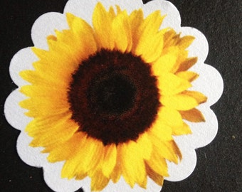 Lot of 30 SUNFLOWER Fall Wedding Party Favor Treat/Thank You Tags Cake Toppers