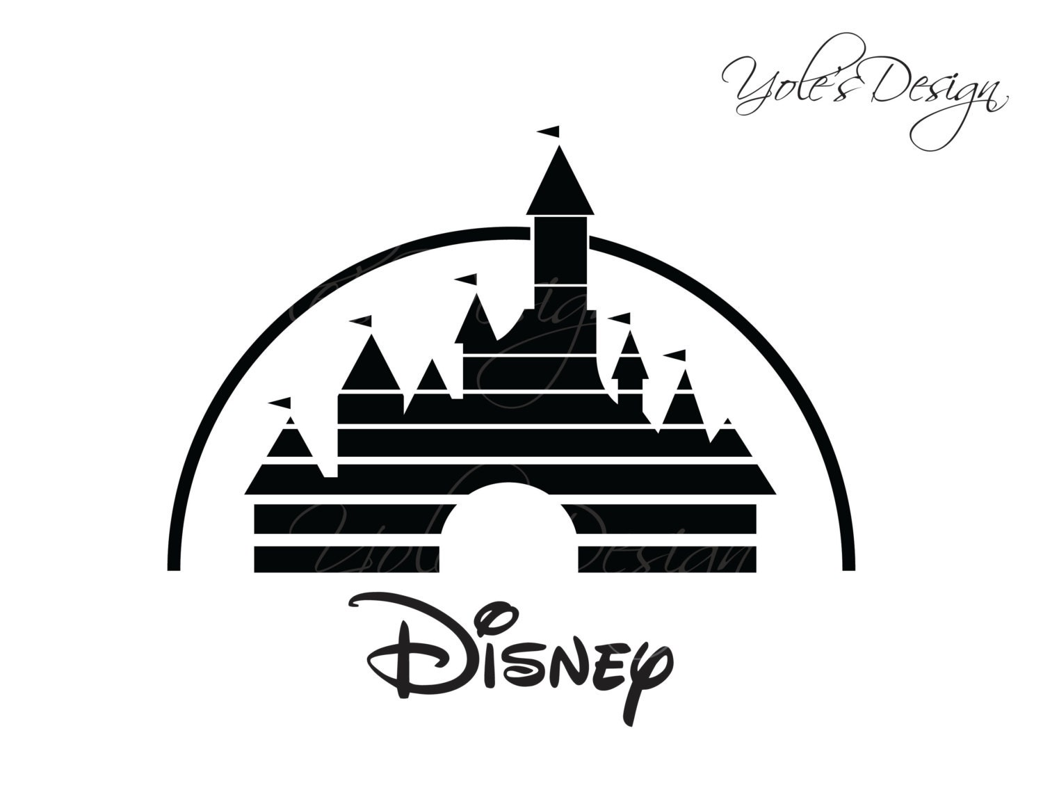 INSTANT DOWNLOAD Disney Castle SVG Disney Trip by YoleDesign
