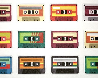 Retro Cassette Stickers