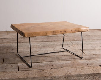 Delamont Coffee table in brushed cedar and industrial iron (U4)