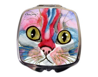 Elliot Face Cat Art Compact Mirror