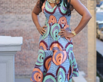 JAYDU dress, African Print Dress, African Clothing, Short dress, African dresses for women,Ankara print dress, African Clothing