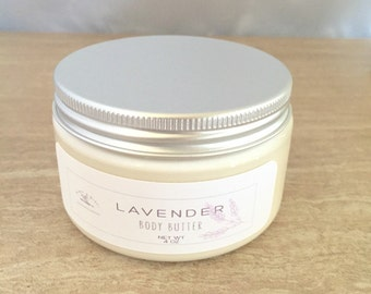 Organic lavender body butter, organic lotion, natural lotion, lavender lotion