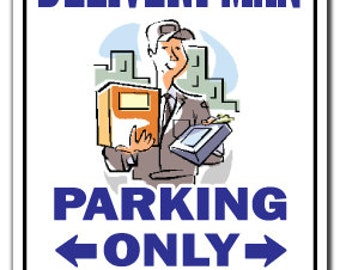 Delivery Man ~Sign~ Deliver Job Package Gift
