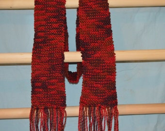 knitted organic cotton scarf