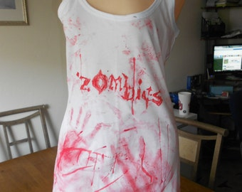Bloody Zombie shirt size S to XL