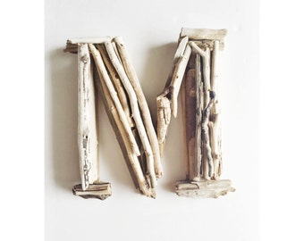 Driftwood Letter, Letter M, Wood Letter, Wall Letter, Rustic wood letter, Letter M, Rustic Wedding Decor, Nursery Wall Art,