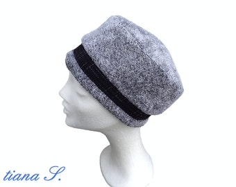 Hat grey melange/black