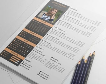 Professional Resume Template, CV Template For MS Word, Creative Resume,  Modern Resume Design  Resume Portfolio
