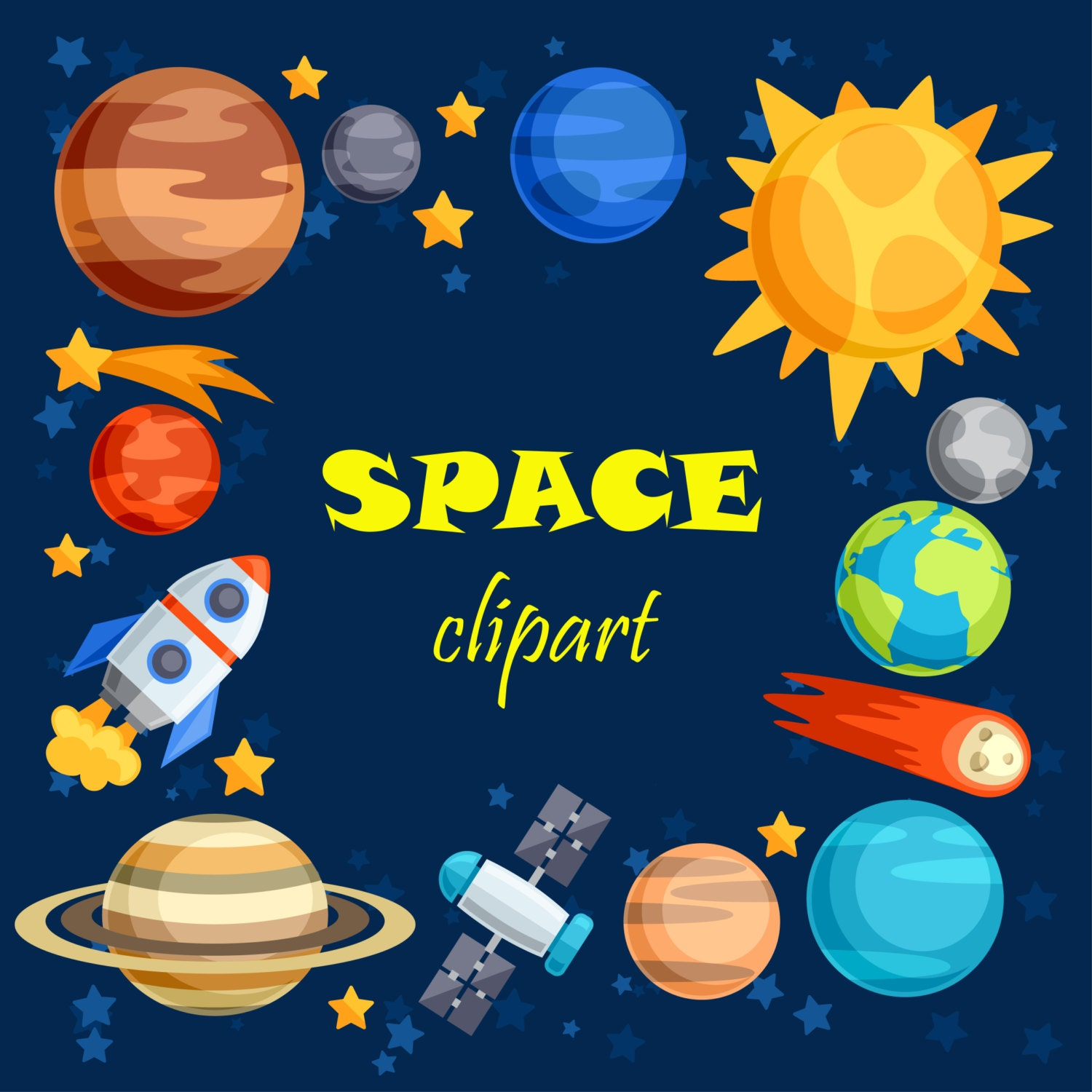 30% OFF AND MORE. Space clipart. Space clip art. Outer space.
