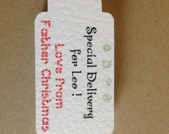 10 Personalised Christmas Gift tags
