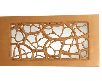 Decorative mirror carved from Baltic Birch
