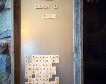 Barn Board magnetic Scrabble board