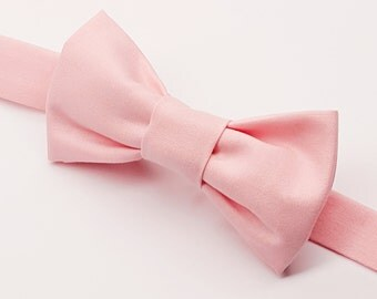 Boys Light Pink Bow tie, Kids Light Pink Bow tie, Baby Pink Bow tie, Kids Pink Bow tie, Pink Bow tie for Kids, Pre-tied Pink, Wedding Bowtie