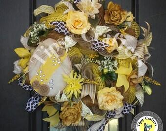 Egg Wreath- Easter Wreath- Easter Egg Wreath - Spring wreath