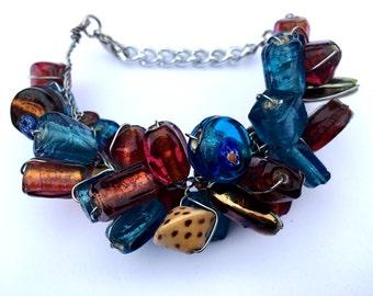 Glass Beaded Bracelet; Multicolour, Handmade, Glass Beads