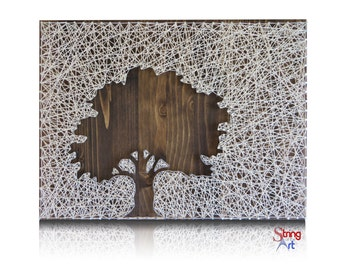 Inverse Oak Tree String Art Kit -Tree String Art, DIY Kit, Crafts Kit, DIY Gift, Crafts for Adults, Arts and Crafts, Craft Supplies included
