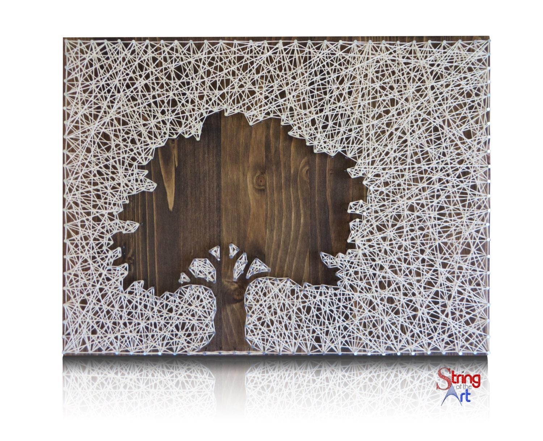 String Art Inverse Oak Tree String Art Kit Tree String Art Diy Kit