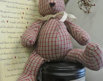 Burgundy Vintage Bear