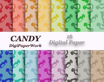 CANDY Digital paper cardboard texture Instant download Scrapbook Paper Digital candy background Candy pattern texture