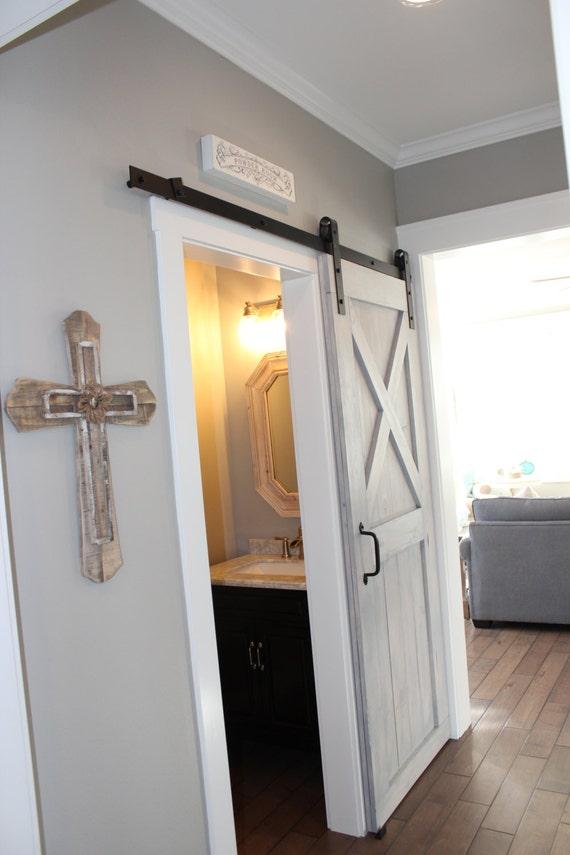 Custom Sliding Barn Door Modern Reclaimed Half X pattern