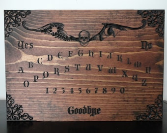 Wooden Ouija Board Carved in Pine Wall Art Occult Black Magic Spirit Seance Paranormal | Halloween Decor | Halloween Decoration