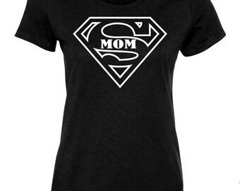 SUPER MOM Funny Parody T-Shirt Mother's Day Birthday Gift Idea 100407-WT