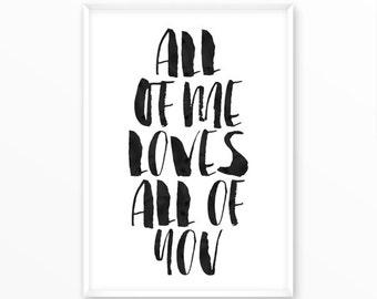 Love Print, motivational, scandinavian Poster, printable, Typography, Poster, Inspirational Home Decor, wall art, gift