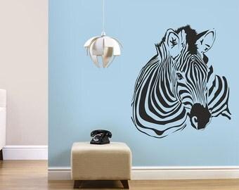 Zebra wall decal, Animals wall decal, Wild animals wall decal, Wall vinyl, Wall art, Zebra wall art, Wall decoration, Animals wall decor 109